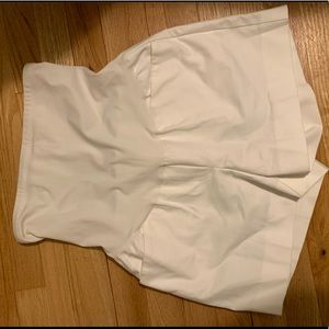 GAP maternity white tailored shorts